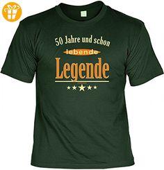 Modicana® T-Shirt zum 50. Geburtstag - 50 Jahre und schon lebende Legende - Funshirt, Größe:XXL - Shirts zum 50 geburtstag (*Partner-Link)
