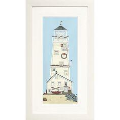 Buy Sally Swannell- Light House II Framed Print, 38 x 68cm online at JohnLewis.com - John Lewis