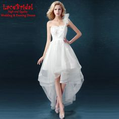 Find More Prom Dresses Information about Sexy White High Low One Shoulder Beaded Lace Prom Dresses 2016 Formal Women Birthday Graduation Party Gown vestidos de baile TP4,High Quality gown corset,China dress bell Suppliers, Cheap dress butterflies from LaceBridal on Aliexpress.com