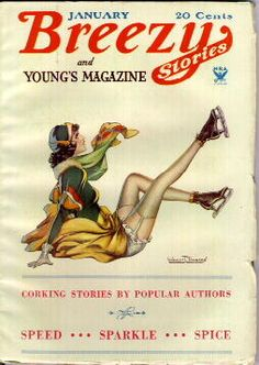 Breezy Stories and Young's Magazine cover @ Pulp Gallery