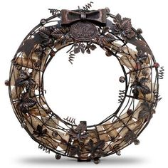 Cork Cage Wreath - so dig this.