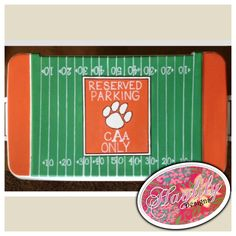 Clemson inspired #Tigers #football personalized painted #cooler #sports #TFM #college #ACC #southern #HaylilyDesigns