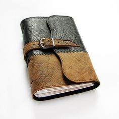 Handmade Leather Journal with Buckle Closure, Sketchbook, Art Book, Diary, 240…