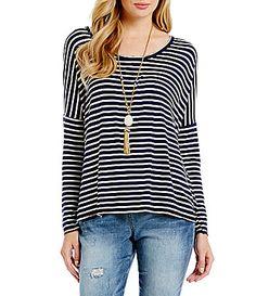 GB Striped Knit Top #Dillards