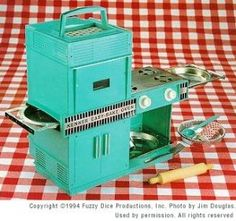Easy Bake Oven -- Introduced in 1963 and still made by Hasbro. But apparently now without incandescent light bulbs