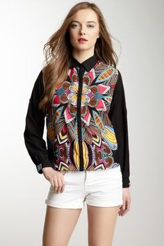 Long Sleeve Printed Shirt by Angie