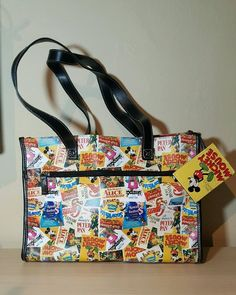 325a4f7e8cee Classic Disney Movie Poster Handbag Purse Tote Mickey Peter Pan Alice Snow  White