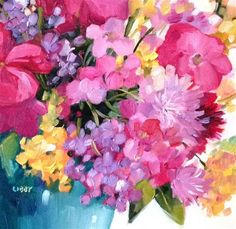 """Daily Paintworks - """"Flora"""" - Original Fine Art for Sale - © Libby Anderson"""