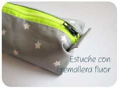 DIY: Estuche con cremallera fluor   cuquilife