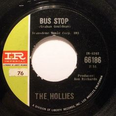 hollies 45 label bus stop Old Records, Vinyl Records, Center Labels, Old Music, Rhythm And Blues, Oldies But Goodies, Bus Stop, Songs To Sing, My Favorite Music