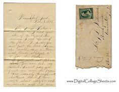 free vintage letter collage sheet 1888