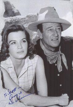 Angie Dickinson--John Wayne