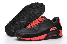 the latest ddbae 0043f Nike Air Max 90 men Black Red Tenis, Zapatillas, Botas, Negro Rojo,