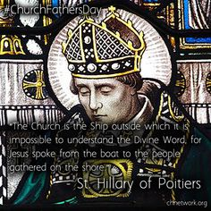 """""""The Church is the Ship outside which it is impossible to understand the Divine Word, for Jesus spoke from the boat to the people gathered on the shore."""" St Hilary of Poitiers"""