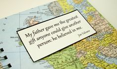 Customized Travel Journal  Fathers Day Gift by VintagePageDesigns, $30.00