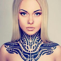 Could never do this myself, but Teya Salat is honoring this shoulder/chest/throat/neck tattoo!