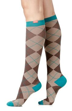 Women's VIM & VIGR Argyle Graduated Compression Trouser Socks