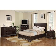 Come see our great selection of beds at Big Lots!      Constructed of hardwood & cherry veneers     English dovetail drawer construction     Rich espresso finish     Dresser, tv chest & nightstand feature drawers with fully extendable glides   Sold individually:
