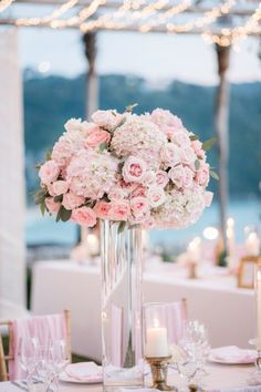 Pink Tall Wedding Ce