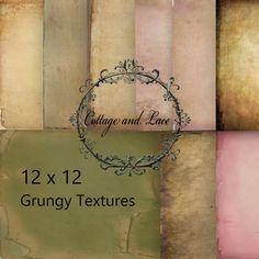 Digital Grunge Textures, Digital Texture Pack, Printable Paper Grunge Set, Old Grunge Paper, Scrapbook Paper, P 93