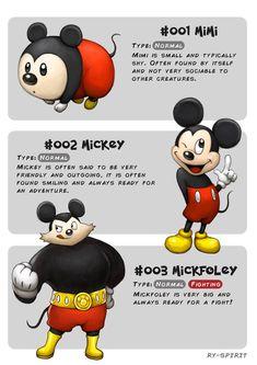 19 personagens da Disney são transformados em evoluções de Pokémon