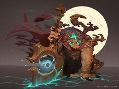 Art by Carlos Ruiz Game Character, Character Concept, Concept Art, Game Concept, Fantasy Kunst, Fantasy Art, Beast Creature, Tarot, Cg Art