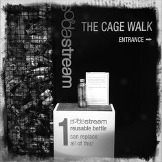 The Cage Walk Plastic Waste, Plastic Bottles, Exhibit, Cage, Cards Against Humanity, Pet Plastic Bottles, Plastic Squeeze Bottles