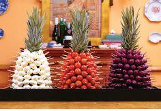24 ideas fruit platter designs presentation edible arrangements for 2020 Snacks Für Party, Luau Party, Appetizers For Party, Tropical Appetizers, Fruit Platter Designs, Deco Fruit, Party Fotos, Fruit Decorations, Fruit Displays
