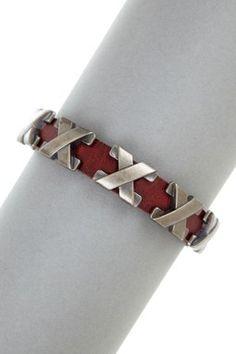 Studded Leather Bracelet