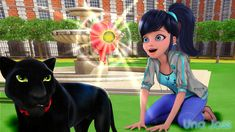 Is the Panther Chat? Cause the eyes are green... why is her outfit that color and her hair up? Wtf.