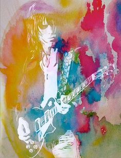 Jeff Beck Watercolor
