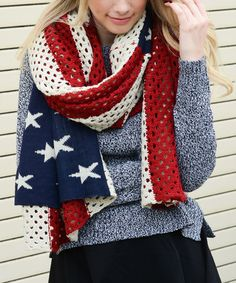 Look what I found on #zulily! Knit American Flag Blanket Scarf #zulilyfinds