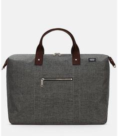 """Built to address modern needs, our Tech Oxford Wing Duffle unites traditional menswear-inspired styling with a technical, water-resistant fabric. The bag's soft structure is large enough to accommodate a weekend trip, but compact enough for daily use. 14.8""""H x 19.5""""W x 9.0""""D"""