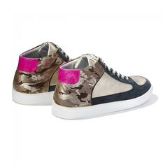 Gold Womens Trainers > Gold Simmy Mid-Top Sneakers at Rose Rankin