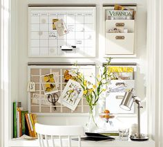 Pottery Barn - Starting at $4 - BUILD YOUR OWN - DAILY SYSTEM COMPONENTS - WHITE. Organize & help with busy families schedule.