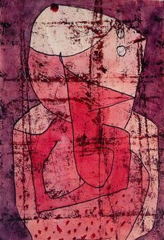 Paul Klee (Swiss:1879-1940), Clown, 1940. Watercolor, oil, pastel and red chalk on paper on cardboard, 29.7 x 20.3 cm.