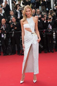 The best of the 2015 Cannes Film Festival red carpet: Karlie Kloss in Atelier Versace.