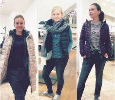 How to wear #LEICHTDAUNE: Kelly trägt Cinque & Marc O'Polo - Anna trägt Tom Tailor & s.Oliver - Kelly trägt Mavi Jeans, Pepe & Tom Tailor Denim #stylingtutorial #fashion