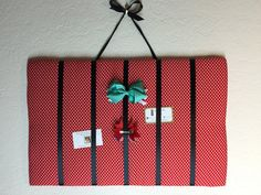 Bow Organizer- Polka Dot by InspiradaPorJULIA on Etsy