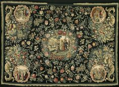 Tablecloth with the history of Joseph and a floral pattern (1652) - Netherlands