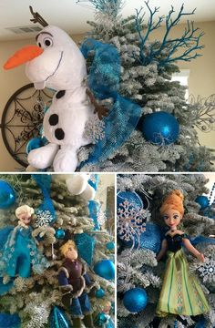 Pin for Later: This Frozen-Inspired Christmas Tree Is an Elsa-Lover's Dream