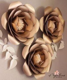 Papel de telón de fondo de flores flores de papel por APaperEvent                                                                                                                                                     Más