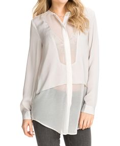 Transparent BF Style Loose Fit Blouse
