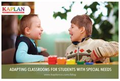 8 Ways to Adapt Classroom Environments for Special Needs Children: http://buff.ly/1p7biQX