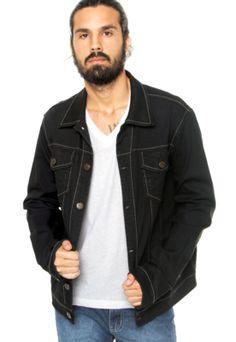 Jaqueta Triton Bolsos Preta, com modelagem reta e mangas longas.  Confeccionada em tecido macio, proporciona maior conforto e estilo.Medidas do Modelo: Altura 1,81m / Tórax: 97cm / Manequim: 40.