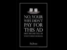Resultado de imagen de de beers print ads