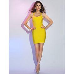 kılıf+/+sütun+askıları+Mini+/+kısa+lütuf+bandaj+elbise+–+USD+$+99.99