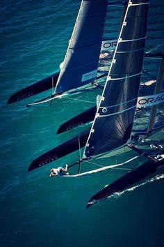 Catamaran race sailing Volvo Ocean Race