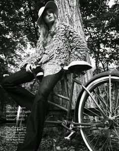 Porter Magazine #4 Fall 2014 | Frida Gustavsson by Cedric Buchet - Michael Kors jacket