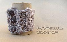 Broomstick Lace Crochet Cuff